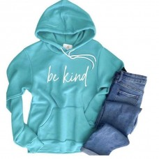 BE KIND Plush Hoodie - Teal