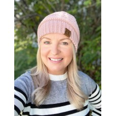 C.C. Beanie Classic Fuzzy Lined Rose